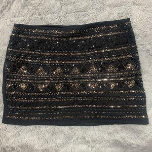 Forever 21 sequins beaded mini skirt